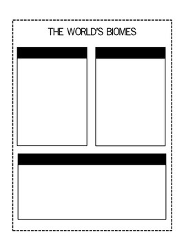 Biomes of the World - Interactive Notebook Notes Organizer