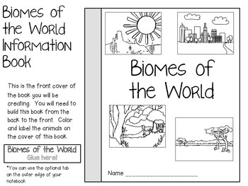 Biomes of the World ~ Science Interactive Notebook Pack