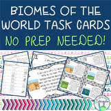 Biomes of the World Task Cards **No Prep!**