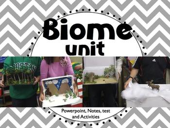Biomes of the World Unit (Powerpoint, Notes & Test, and Fun Activities)