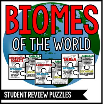 Biomes of the World Unit: Review Puzzles