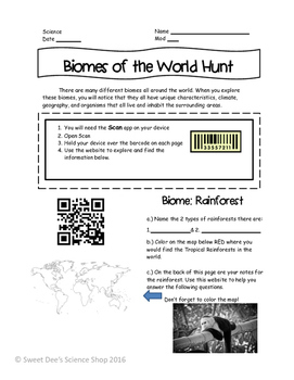 Biomes of the World Using QR Codes