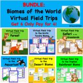 Biomes of the World Virtual Field Trip Bundle Get 2 Free