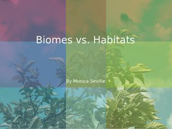 Biomes vs. Habitats Powerpoint