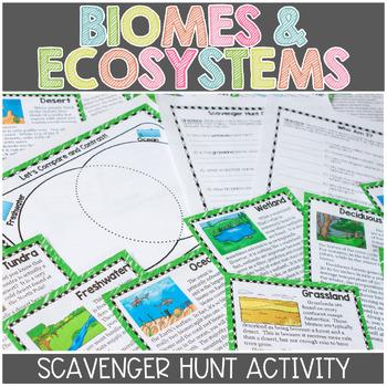 Ecosystems Scavenger Hunt Reading Activity