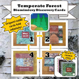 Temperate Forest Biome Biomimicry Discovery Cards Kit   NGSS 1-LS1-1