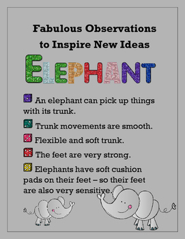 Biomimicry Fabulous Observations - Elephant