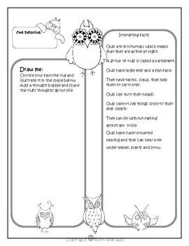 Project Based Learning: Owls - STEAM, Biomimicry, Digital Activities