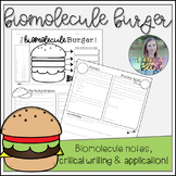 Biomolecule Burger Handout: Ready-to-Use Notes/Assessment