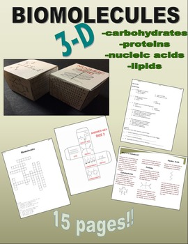 Biomolecules 3D: Carbohydrates, Proteins, Nucleic Acids, a