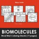 Biomolecules / Biochemistry Word Wall Coloring Sheets (16 pages)