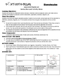 Biomolecules Game Puzzle with Worksheet