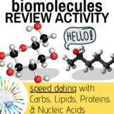 Biology Review Activity! Biomolecules Up and Moving 'Speed