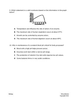 Biomolecules Test