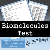 Biomolecules Exam- 3 Versions