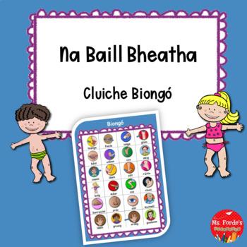 Biongó Na Baill Bheatha (Body Parts Bingo in Irish)