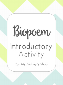 Biopoem Introductory Activity