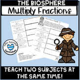 Biosphere 5th Grade Multiply Fractions by Whole Numbers Math Worksheets
