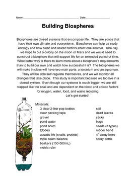 Biosphere Project