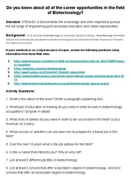 learning about biotechnology webquest answer key pdf