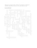 Biotechnology Crossword Puzzle