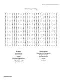 Biotechnology in Ecology Word Search for Biotechnology Students