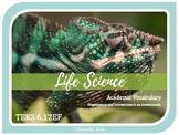 BIOTIC & ABIOTIC FACTORS - 6th Grade Life Science Vocabulary {TEKS 6.12EF} 2019