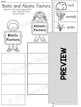 Biotic and Abiotic Factors: Activity BUNDLE