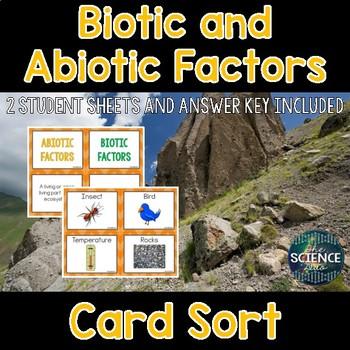 Biotic and Abiotic Factors Card Sort