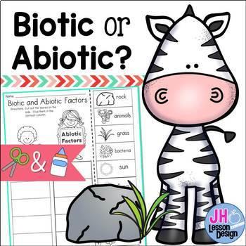 Biotic and Abiotic Factors Cut and Paste Sorting Activity