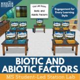 Abiotic and Biotic Factors Student-Led Station Lab