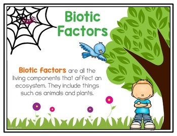 Biotic and Abiotic Factors Posters and Interactive Notebook INB Set
