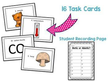 Biotic and Abiotic Factors Task Cards