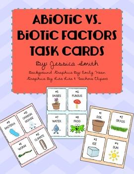Biotic or Abiotic? Task Cards