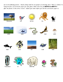 Biotic/Abiotic Factors in the Biosphere
