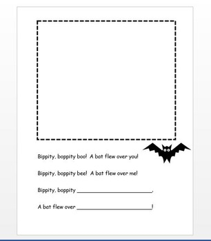 Bippity Bat Rhyming Craft