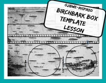 Birch Bark Box Template Ojibwe Native American Art & Socia