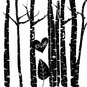 Birch Tree Clip Art, PNG Line Art + Photoshop Brushes, Tree Silhouettes, Woods