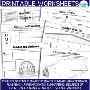The Birchbark House Lessons and Comprehension Printables