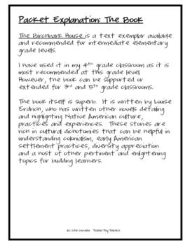 Birchbark House Novel Unit Basics