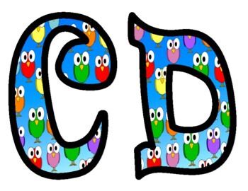 Bird 2 Alphabet Bulletin Board Letters