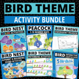 Spring Birds Activities Bundle | Math and Literacy Activities