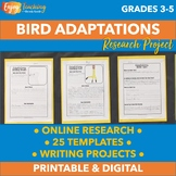 Animal Adaptations Research Project - Bird Beaks, Feathers, Wings, and More