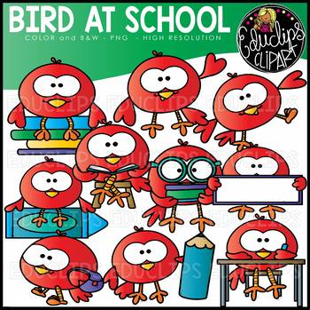 Bird At School Clip Art Set {Educlips Clipart}