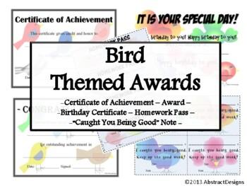 Bird Awards Set