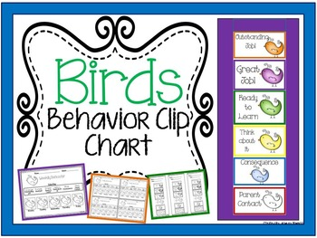 Bird Behavior Clip Chart