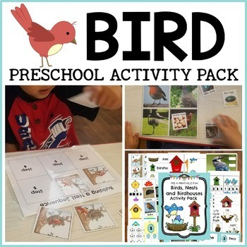 Bird Preschool Activities and Centers