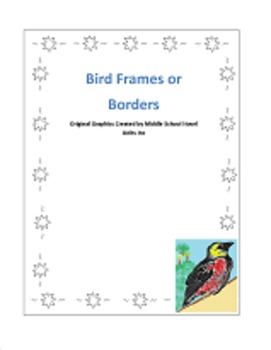 Bird Borders and Frames for Personal or Commercial Use