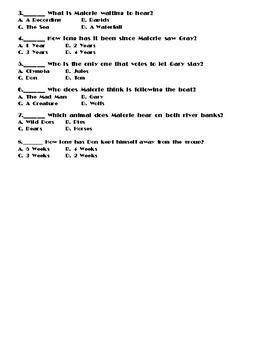 Bird Box by Josh Malerman Chapters 36-39 Worksheet/Assessment