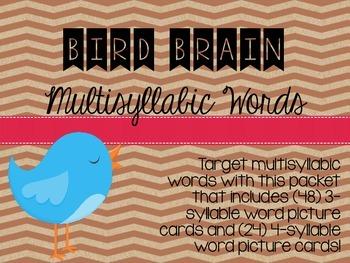 Bird Brain Multisyllabic Words
